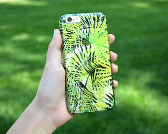 5048 // Green Leaves Plants Jungle CLEAR Phone Case iPhone 5/5S, 6/6S, 6+/6S+ Samsung Galaxy S5, S6, S6 Edge Plus, S7