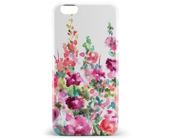 1386 // Water Color Flowers Phone Case iPhone 5/5S, 6/6S, 6+/6S+ Samsung Galaxy S5, S6, S6 Edge Plus, S7