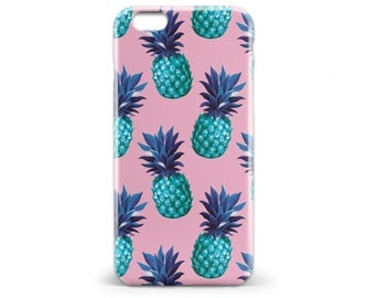1423 // Blue and Pink Retro Pineapple Phone Case iPhone 5 5S, iPhone 6 6S, Samsung Galaxy S5, Samsung Galaxy S6, Samsung Galaxy S7 Edge Plus