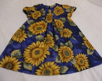 Girls sunflower dress size 5 years