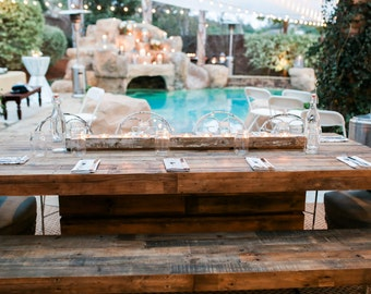 Custom Hand-Made Linear Rustic Candle Holders / Centerpieces