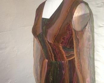 Dress Vintage Puszta Hippie Boho Sheer Maxi Dress Size 8-10