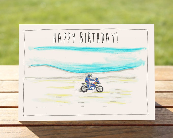 "Motorcycle Birthday Card - KTM Adventure I A6 Measures: 6"" x 4"" / 103mm x 147mm 