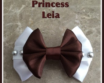 Princess leia starwars hair bow