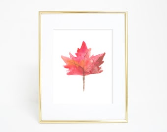 Leaf Print, Maple Leaf, Maple Leaves, Leaves Print, Fall Print, Fall Home Decor, Autumn Decor, Wall Prints, Digital Downloads, Wall Decor