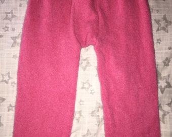 100% Cashmere Bubblegum Pink Toddler Leggings Longies Pants Longies - Size 18M