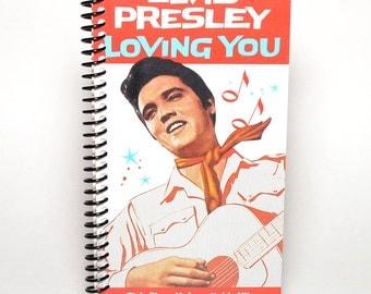 Elvis Presley Loving You VHS Spiral Notebook Sketchbook