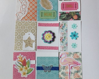 Pocket letters, project life, journal cards, scrapbooking, pocket notes, butterflies, flowers, planner accessories, snail mail