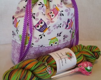Tootsie Pop - Hand Dyed Sock Yarn and Project Bag