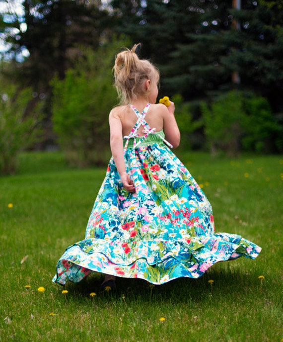 Cora's Wave pleat bodice Top, Dress & Maxi. PDF sewing pattern for toddler girl sizes 2t - 12.