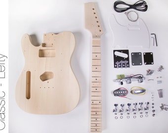 DIY Electric Guitar Kit - Tele Style Build Your Own Guitar LEFTY