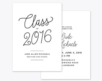 Class of... Graduation Announcement + Invitation Printable