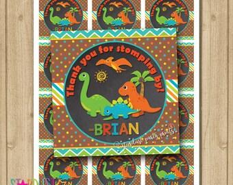 Dinosaur Party Favor Tags, Dinosaur Printable Favor Tags, Dinosaur Birthday, Dinosaur Thank You Tags