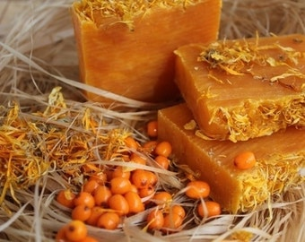 Organic Soap from Russia with natural Calendula & Sea Buckthorn