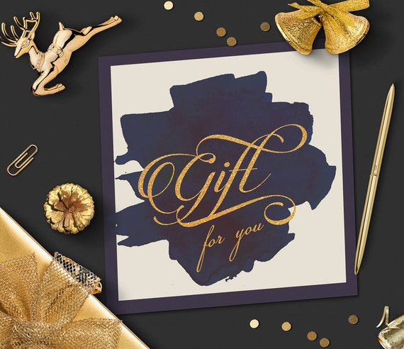 Watercolor gift certificate template gold foil photography watercolor gift certificate template gold foil photography template instant download printable gift card design marketing gold and navy yadclub Gallery