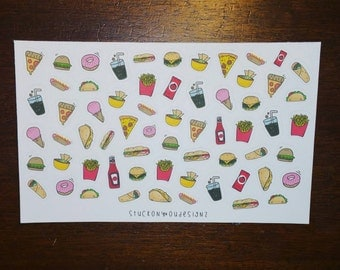 Hand drawn food illustrations // Perfect for any planner