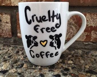 Cruelty Free Coffee mug with Cows