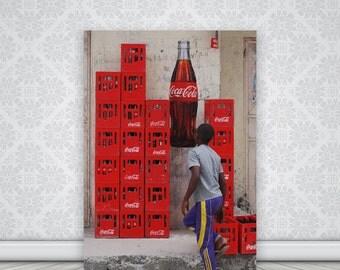 Color Photography, Home Decor, Wall Art, Africa  Photos, Art Print, Zanzibar village, printing Photo, Coca Cola Decor, Digital Download