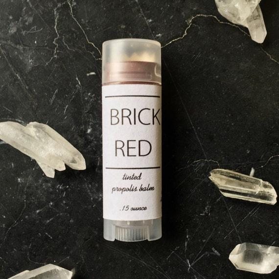 Brick Red Tinted Propolis Balm- Lip and Cheek