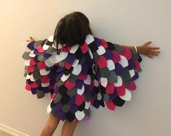 Felt owl costume (purple)