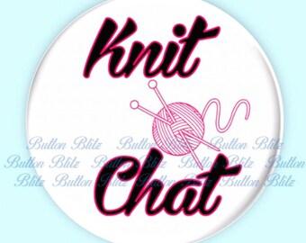 Knit Chat Pin White