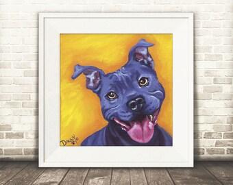 Pitbull Wall Art pitbull painting | etsy