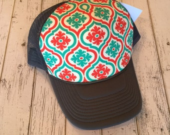 New RedCoral &mint design trucker hat. Verify your size in description before ordering.
