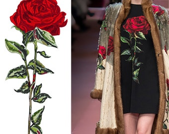 Machine Embroidery Design - Rose - 3 sizes