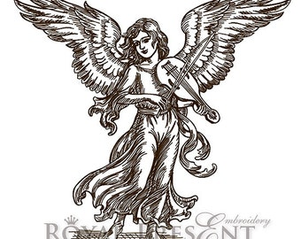 Machine Embroidery Design - Angel with violin #2