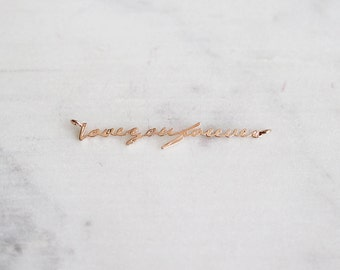 P2-007-PG] Love You Forever / 35mm / Pink Gold plated / Pendant / 1 piece(s)