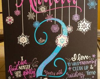 Birthday/Age Milestone themed Art Board