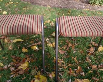 Vintage stools~stacking stools~1950's stools~Upcycled stools~Refinished stools~Repurposed stools~Reupholstered stools~Repainted stools