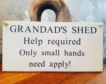 Grandad Sign, Gift For Grandad, Shed Sign, Grandad Plaque, Father's Day Gift, Grandad's Shed, Grandad's Shed, Grandad's Birthday