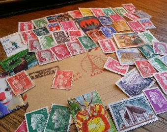 50 Postage Stamps from France