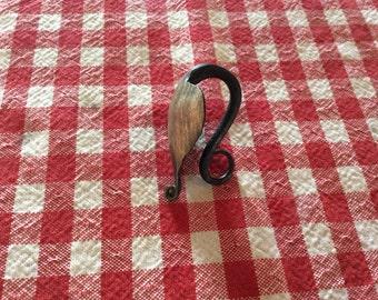 Metal leaf keyring-handmade
