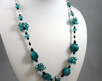 Lampworked Glass Beaded Necklace