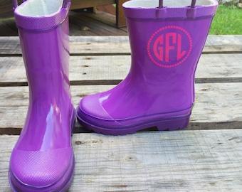 Monogram Rain Boots Youth