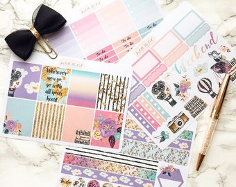 "Happy Planner ""Fly Away With Me"" Weekly Kit Planner Stickers"