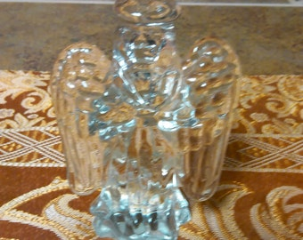 Vintage Angel Paperweight Taiwan Art Deco Praying Glass Angel Paperweight