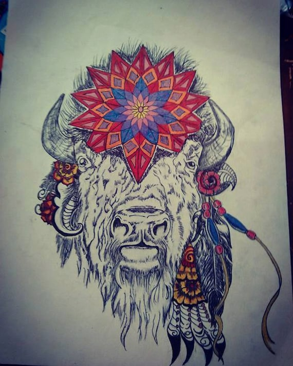 Old man of the prairie Buffalo mandala