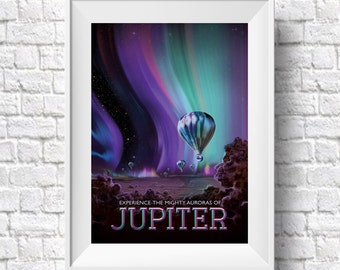 Space Art Poster Jupiter Nasa Spcae Art Print