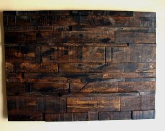 Wall art, Rustic Wood Wall Décor, wood wall art, Abstract Art, recycled wood art, custom art, reclaimed art, reclaimed wood art, gift