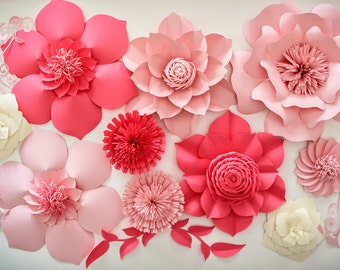 Paper Flower Backdrop, Wedding Centerpiece, Giant Paper Flowers