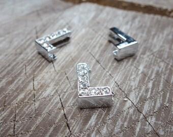 Letter L Slot Charms ~1 pieces #100626