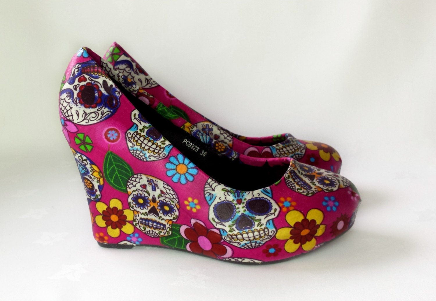 Day of the dead custom sugar skull shoes skull by RockYourSole