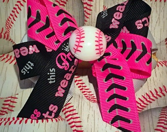 Princess in Cleats Bow