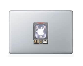Flux Capacitor Apple Laptop Sticker