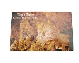 Caverns Postcard King's Throne Postcard  King's Throne Natural Bridge Caverns Postcard Texas Postcard Vintage Postcard  Used Paper Ephemera