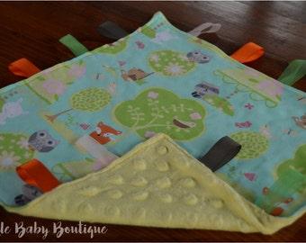 Woodland Animals Security/Taggie Blanket
