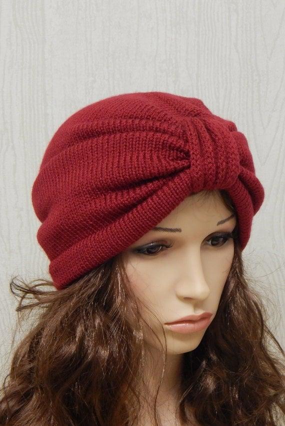 womens turban knitted turban hat turban by